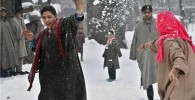 عکس: برف بازی دختران هندی