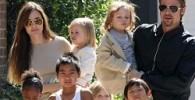 فرزندان آنجلینا با بازیگران فیلم او بازی می کردند!