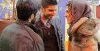 تصاویری از حضور بازیگران و مردم در اکران برف روی کاج ها