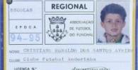 عکس اولین کارت بازی کریستیانو رونالدو