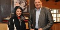 عکسی از لیلا حاتمی و رئیس جمهور صربستان