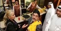 تصاویر وقتی مارادونا و نامزد جدیدش سوژه عکاسان می شوند