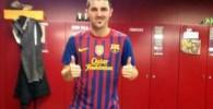 تصاویر پشت صحنه مراسم عکس رسمی باشگاه بارسلونا