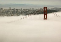 عکس دروازه طلایی سان فرانسیسکو در مه