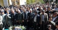 تصاویر خاکسپاری مرحومه پروین دخت یزدانیان