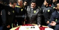عکس یک جشن کوچک با حضور مارادونا و خلعتبری در تمرینات الوصل