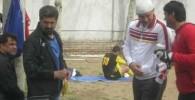 گزارش تصویری : علی دایی با سر بانداژ شده دوباره مرد اول تمرین راه آهن شد