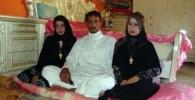 عکسی از ازدواج همزمان یک پسر عرب با دو دختر 17 و 21ساله!!