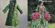 عکس لباس های زیبا زنانه از گیاهان که قابل خوردن است