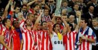 تصاویر زیبا از جشن قهرمانی هواداران اتلتیکومادرید در لیگ اروپا