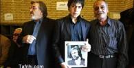 عکس: فرزند ایرج قادری ، ژوبین قادری در مراسم ختم پدر