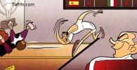 کاریکاتور: رونالدو به سلطه بارسا پایان داد