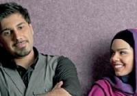 عکس احسان خواجه امیری به همراه همسرش