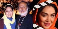 دو عکس از سارا منجزی و مهناز افشار و ایرج قادری