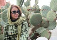 عکس شبنم قلی خانی در کنار کاکتوس