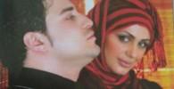 سه عکس از بابک جهانبخش و همسرش مروارید