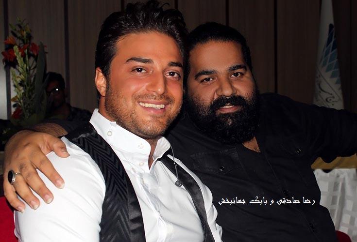 تصاویری از حضور رضا صادقی در کنسرت بابک جهانبخش