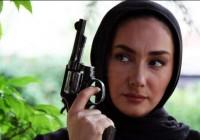 عکس هایی از هانیه توسلی در حال تفنگ بازی و تار زدن