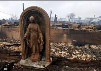 تصاویر سالم ماندن مجسمه مریم مقدس بعد از ویرانگی طوفان سندی!