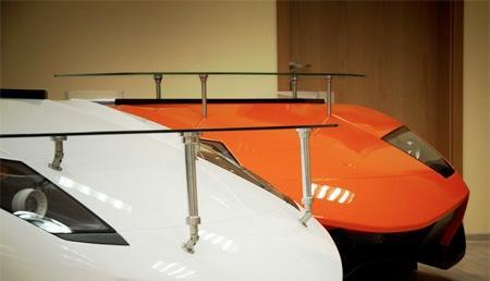 تصاویری از میزی با طرح لامبورگینی