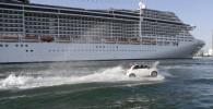 تصاویر خودرویی که شنا هم می کند