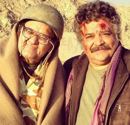عکسی از زخمی شدن شریفی نیا و اکبر عبدی