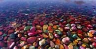 تصاویر ساحل سنگ های رنگی پارک ملی گلیشر