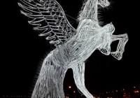 تصویر اسبی از جنس نور