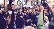 تصاویر حضور محمدرضا گلزار در افتتاحیه فروشگاه جدید علی دایی
