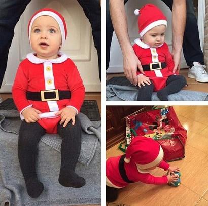 عکس فرزند زیبای کاسیاس و کریستیانو رونالدو در لباس عربی و کریسمس