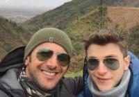 عکس امين حيايي و پسرش در ارتفاعات گيلان