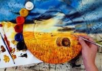 نقاشی طبیعت روی بشقاب! (عکس)
