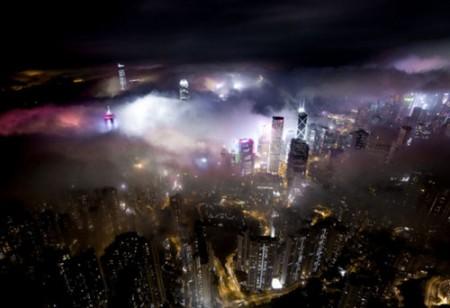 عکس های شگفت انگیز هوایی از هنگکنگ