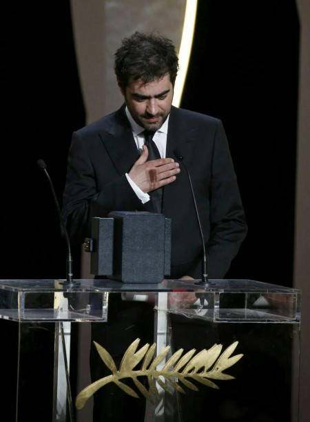 گزارش تصویری از شهاب حسینی و اصغر فرهادی برنده نخل طلای جشنواره کن
