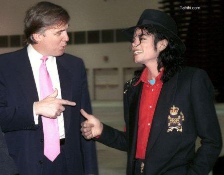 عکس یادگاری دونالد ترامپ و مایکل جکسون