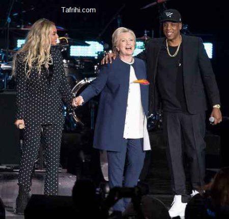 عکس هیلاری کلینتون در کنسرت بیانسه
