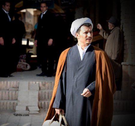 گریم بازیگر نقش آیت الله هاشمی رفسنجانی در سریال معمای شاه
