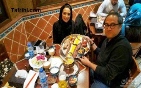 رامبد جوان و همسرش نگار جواهریان درحال خوردن کباب