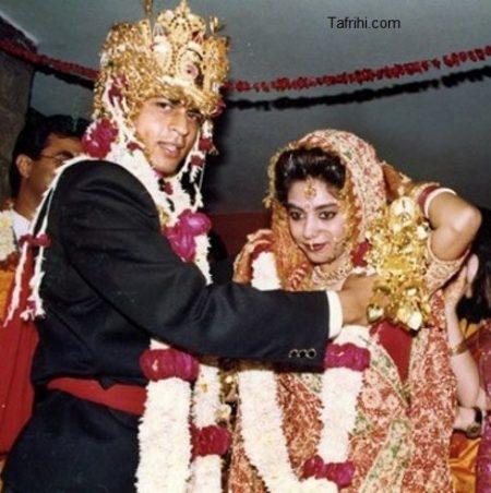 عکس از بیست و پنجمین سالگرد ازدواج شاهرخ خان و همسرش