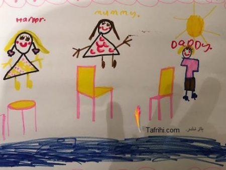ویکتوریا بکهام عکس نقاشی جالب دخترش از خودش و دیوید بکهام را منتشر کرد