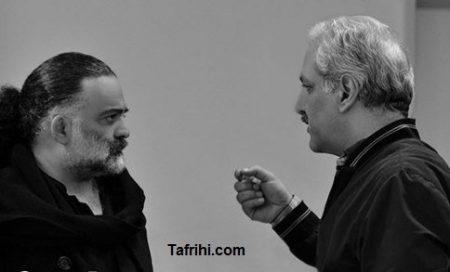 عکس علیرضا عصار در پشت صحنه فیلم ساعت 5 عصر مهران مدیری