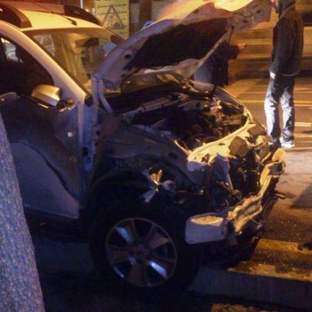 تصویری از تصادف شدید شبنم فرشادجو با اتوبوس!