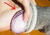 دفع سموم و تصفیه خون با قرار دادن یک برش پیاز در جورابتان هنگام خواب!