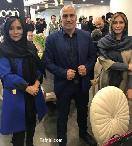 پرستو صالحی و فریبا نادری در کنار علیرضا منصوریان