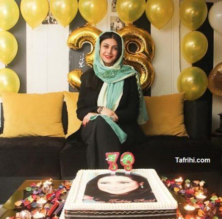 عکس از جشن تولد 38 سالگی آزاده صمدی