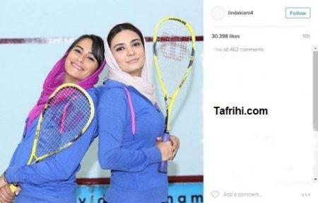 عکس جالب خانم بازیگر مشهور با ورزش محبوبش!